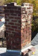 damaged furnace chimney